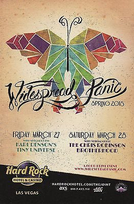 MINT ORIGINAL WIDESPREAD PANIC CHRIS ROBINSON BLACK CROWES LAS VEGAS HANDBILL