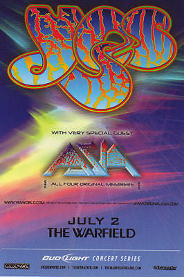 BEAUTIFUL MINT YES ASIA WARFIELD CONCERT HANDBILL