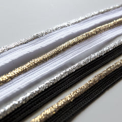 flanged insert piping cord - Silver & Gold Metallic