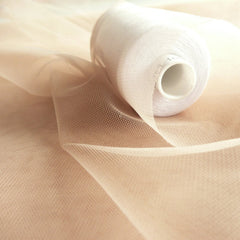 Nude Super Fine Illusion Soft Tulle Fabric - 150cm Wide