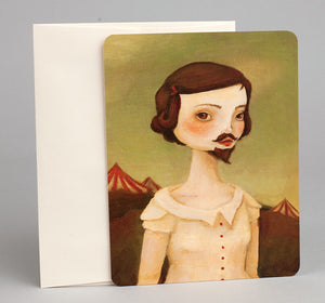 15 Assorted Carnival Themed Postcards -- The Black Apple by Emily Martin