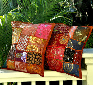Bohemian Pillow Cover -- Brown