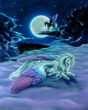 Susan Dawe When Children Dream Pegasus Greeting Card