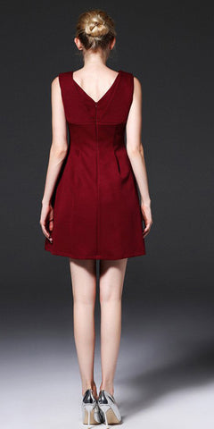 Cut-out Shoulder high waist dress