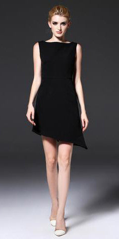 My Favorite Little black Dress w/Uneven bottom