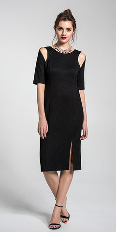 Cut-Out 3/4 Sleeve Dress