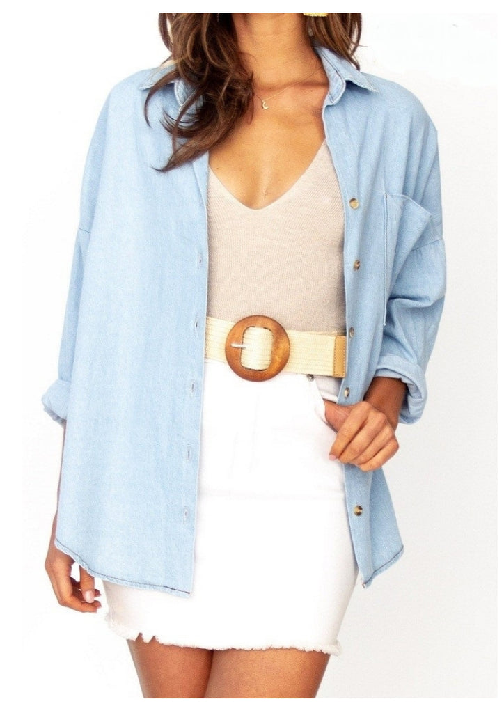 Ava 'Freya' Denim Shirt