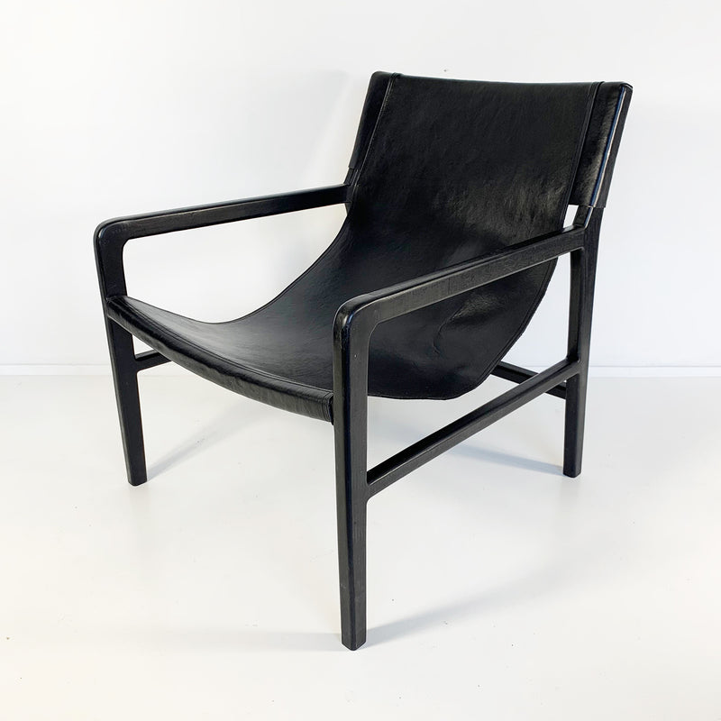 Souk Collective - Leather Sling Chair Natural/Black