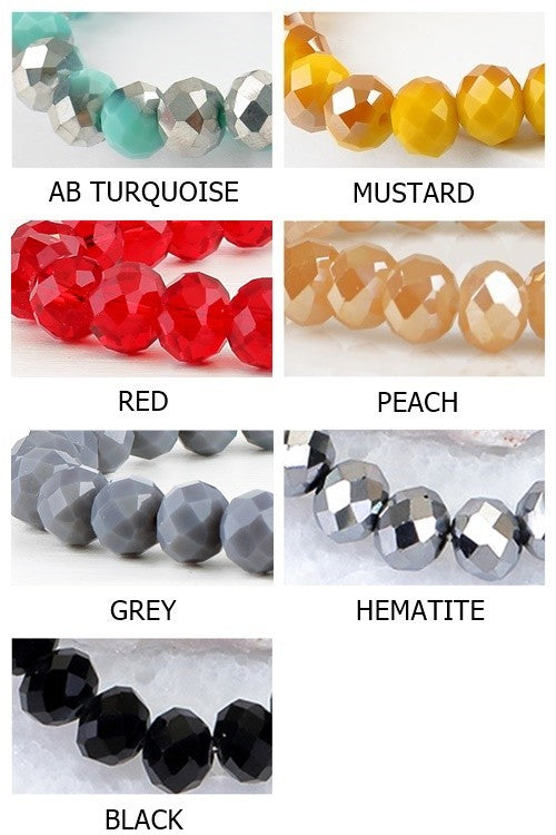 10 mm Colored Crystal Bead Stretchable Bracelet