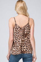 Leopard Print V-Neck Camisole Top