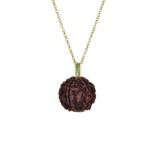 Load image into Gallery viewer, Rudraksha Seed | 14K Gold with Gemstones