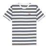 DAILY STRIPE T-SHIRT - WHITE/NAVY
