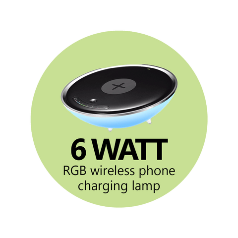 6 Watt RGB Wireless Phone Charging Lamp