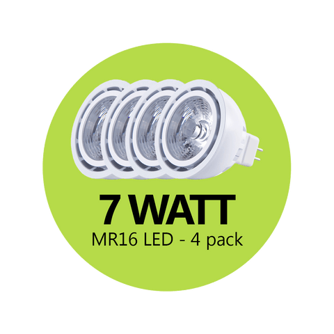 Premium  7 Watt MR16 LED - 4 Pack