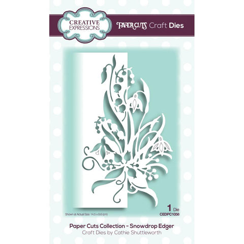 (Pre Order)  Creative Expressions - Paper Cuts Edger Craft Dies - Snowdrop