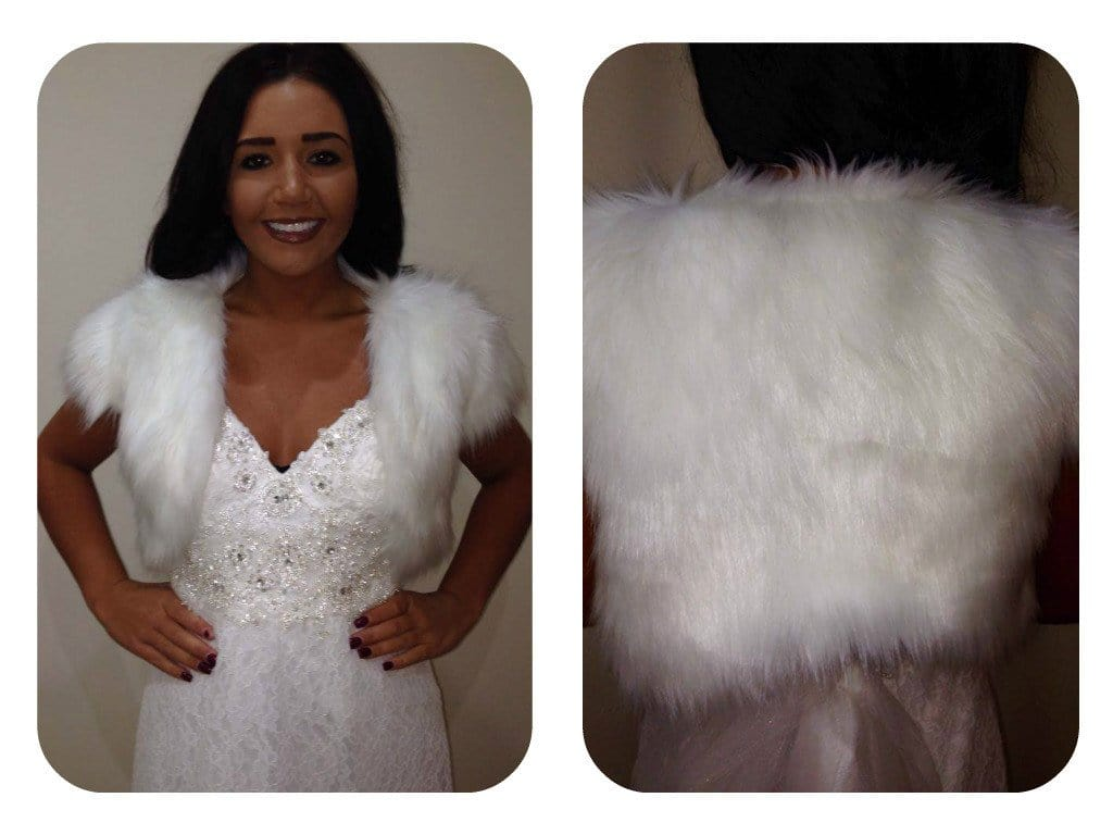 Vera Ivory Fur Bolero - That Special Day Bridal Warehouse