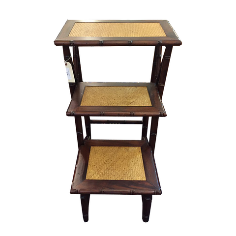 Faux Bamboo side table/steps - Chestnut Lane Antiques & Interiors - 1