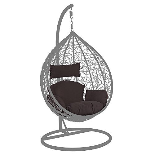 Hanging Chair Deep Seat Cushion with Headrest and Armrest