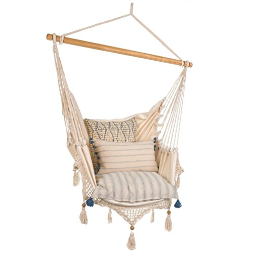 Lazy Rest Natural Crochet Hanging Hammock Chair