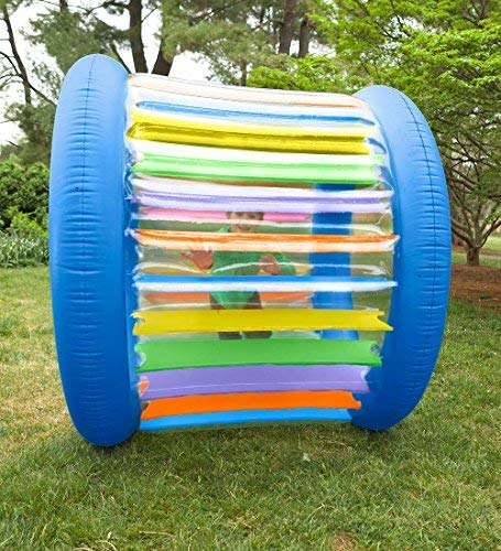 Roll With It Giant Heavy Duty Colorful Inflatable Rolling Wheel