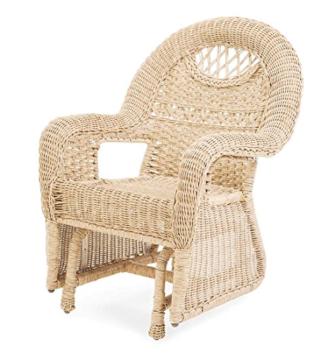 Prospect Hill Wicker Chair Glider: Cloud White