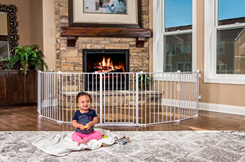 192-Inch Super Wide Adjustable Baby Gate and Play Yard: White