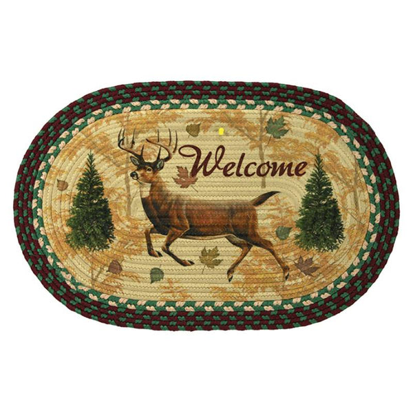 Oval Braided Deer Rug 2521