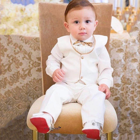 William Vest Set (Gold) - Couture - Itty Bitty Toes