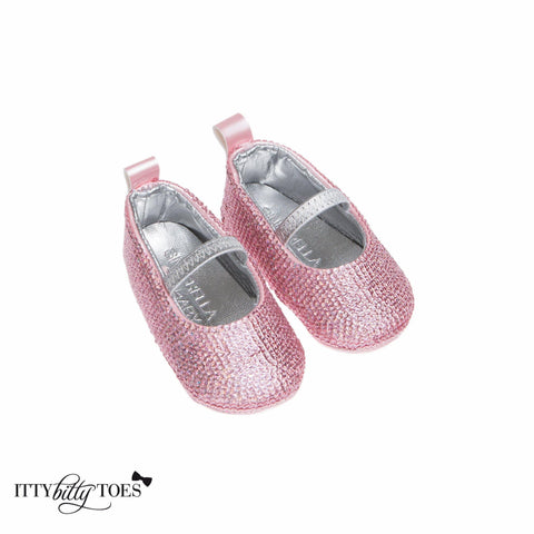 Pink Sequin Sandals - Shoes - Itty Bitty Toes