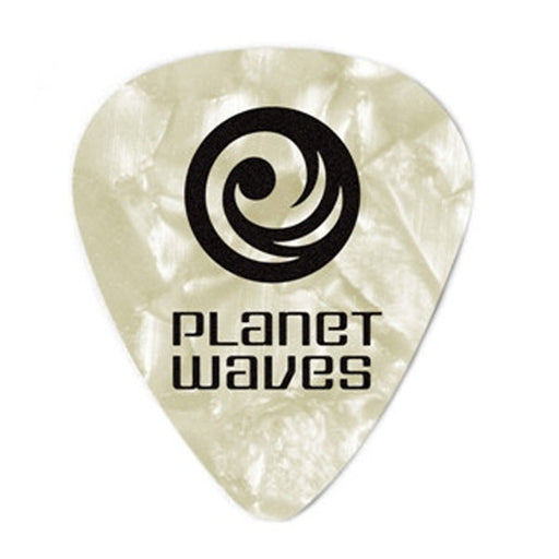 Planet Waves 1CWP2 White Pearl /Light Celluloid Standard Guitar Pick (pack of 10)