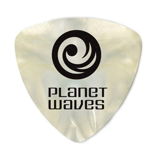 Planet Waves 2CWP6 Celluloid Wide White Pearl/Heavy Guitar Pick - Pack of 10