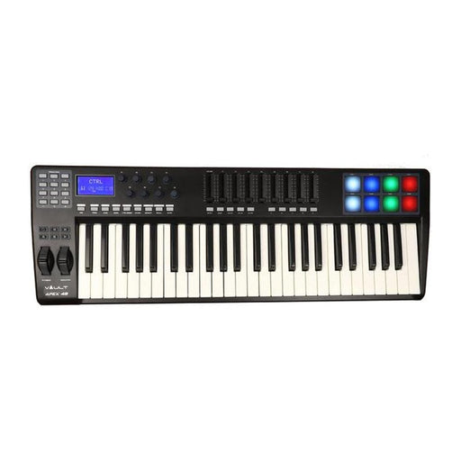 Vault APEX 49 USB MIDI Keyboard With RGB Pads - Includes Bitwig 8-Track