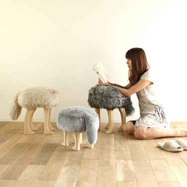 Takumi Kohgei - Animal Stool_Wolf Gray L - Stool