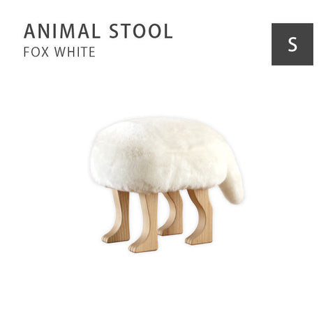 Takumi Kohgei - Animal Stool_Fox White - Stool