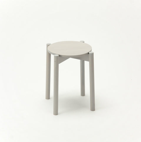 Karimoku New Standard - CASTOR STOOL PLUS grey - Stool