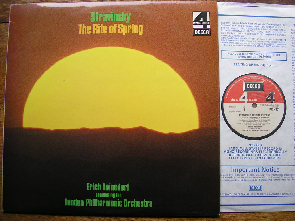 STRAVINSKY: THE RITE OF SPRING  LEINSDORF / LONDON PHILHARMONIC   PFS 4307