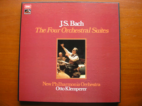 BACH: THE FOUR ORCHESTRAL SUITES    KLEMPERER / NEW PHILHARMONIA   2LP SET   SLS 808
