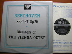 BEETHOVEN: SEPTET IN E FLAT MAJOR / MEMBERS OF THE VIENNA OCTET SXL 2157