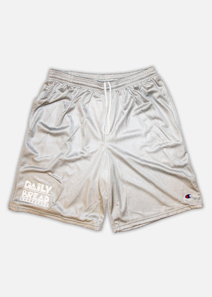 Daily Bread x Champion Mesh Shorts - Athletic Heather/White