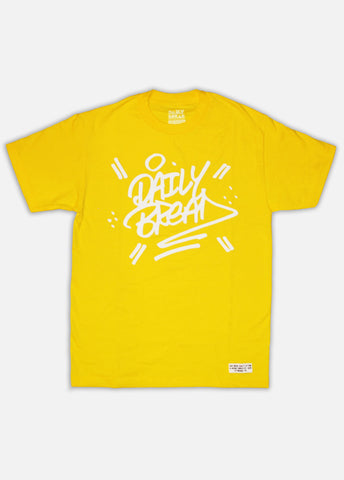 STACKED TEE - YELLOW/WHITE