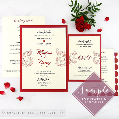 Alice in Wonderland | Sample Set Printed Wedding Invitations