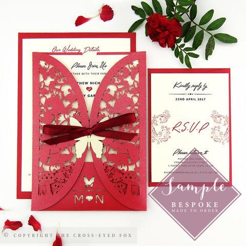 Alice in Wonderland | Sample Set Wedding Invitation & Jacket