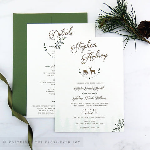 Rustic Woodland | Sample Set Wedding Invitation & Jacket