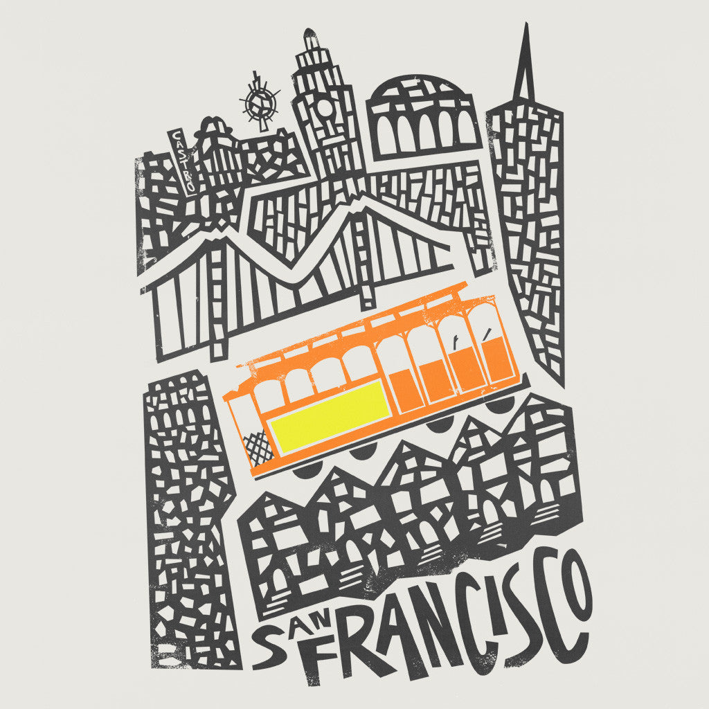 San Francisco Streetcar Illustration