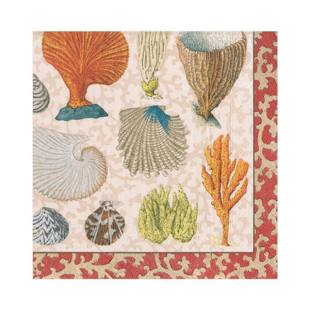 Coastal Curiosities Paper Luncheon Napkin