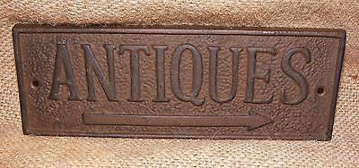 Cast Iron ANTIQUES Sign  #303