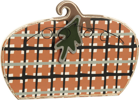 Stand-up Plaid Pumpkin - Fall Decoration Thanksgiving Home Decor
