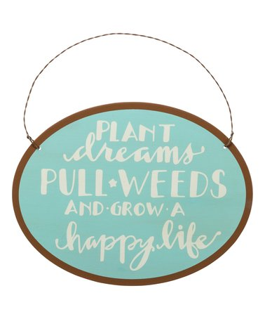 "Garden Sign ""Plant Dreams""  Tin Hanging Sign for Gardeners   #756"