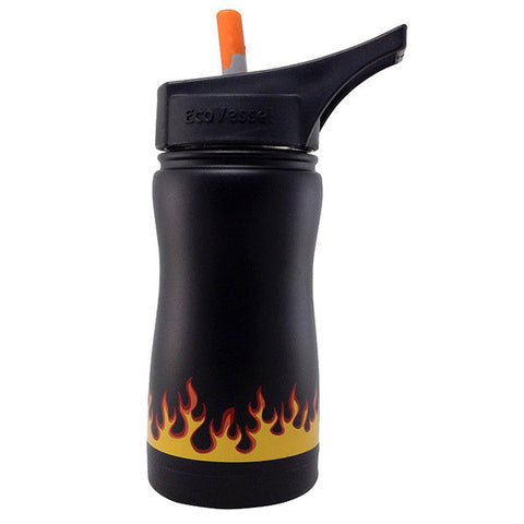 Frost Insulated Stainless Steel Bottle Black Flames
