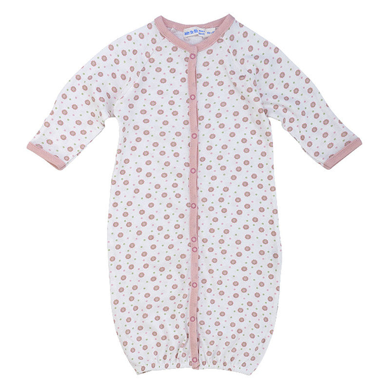 Convertible Gown/Romper - Pink Dots